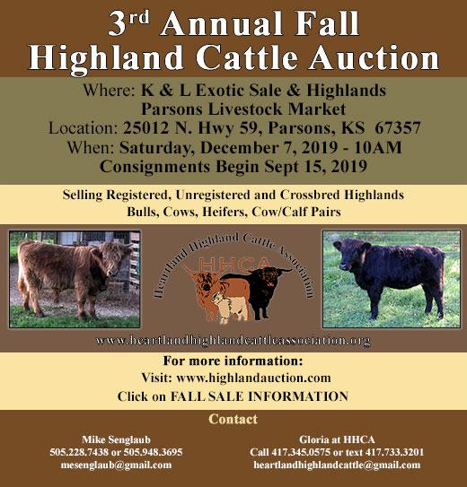 Heartland Highland Cattle Association - Classifieds